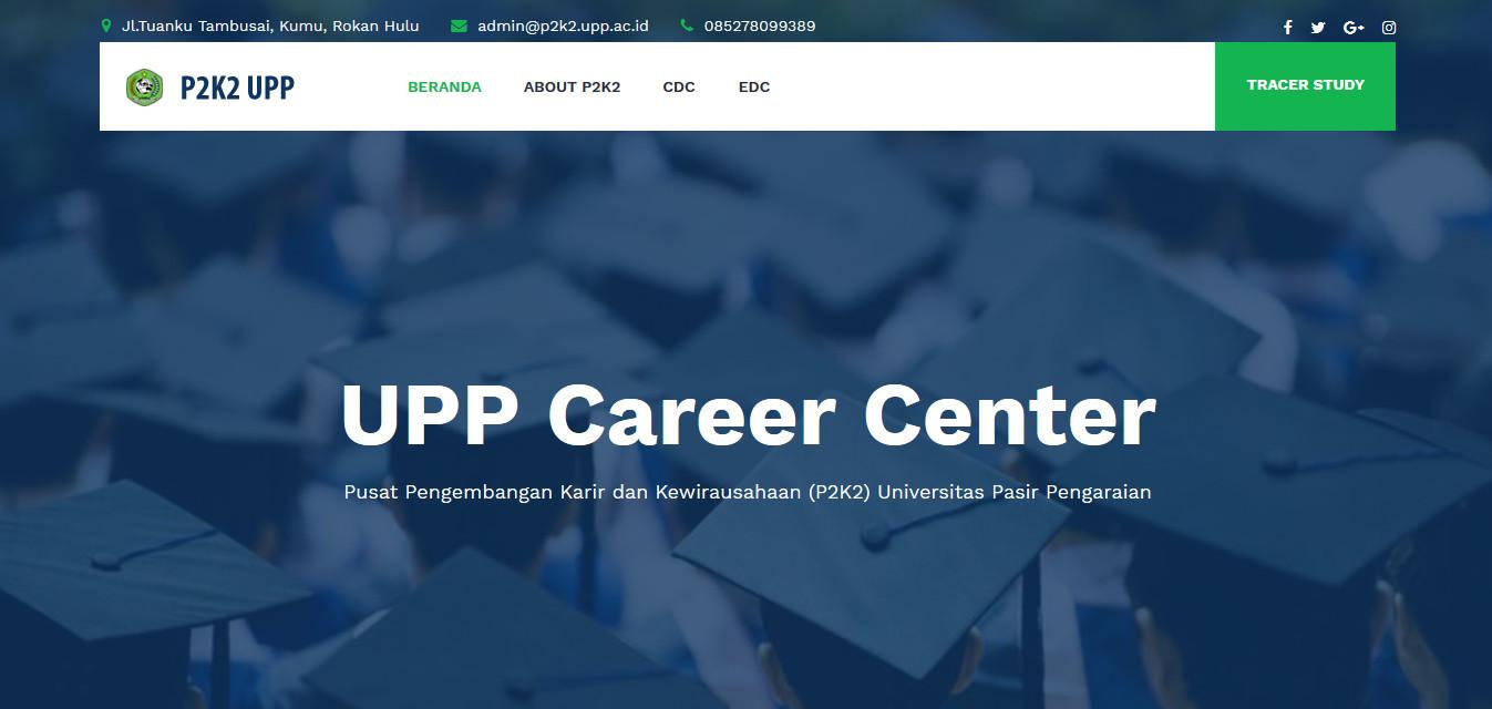 Tampilan Website CDC