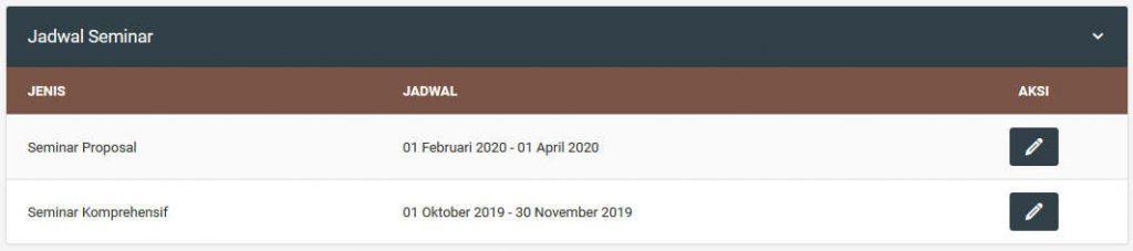 SIMTA Jadwal PendaftaranSeminar